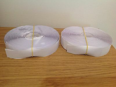 Job Lot of 4 Metres 25mm White Self Adhesive Sticky Back Hook and Loop Tape