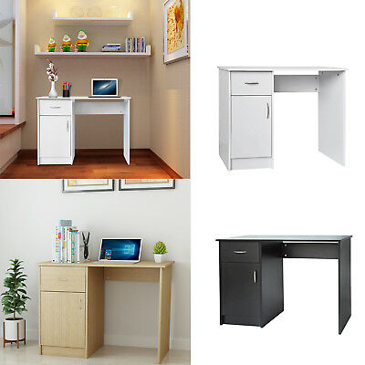 Modern Computer Desk PC Writing Table Storage w/ Cabinet and Drawer Home Office