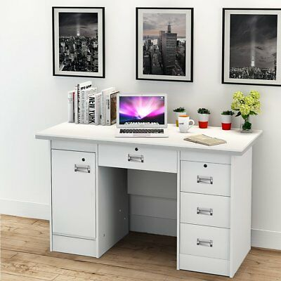 Computer Desk PC Table Study Desk Workstation w/ 3 Drawers Home Office Furniture