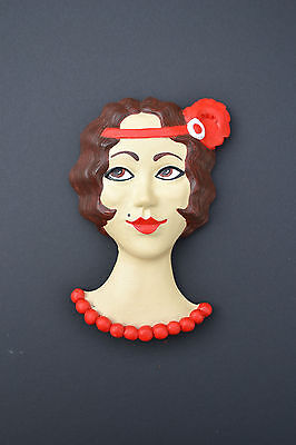 Art Deco Wall Plaque - 1930's Flapper Girl  - Vintage Retro Dancer