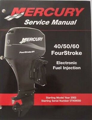 MERCURY 40 / 50 / 60 EFI (4-Stroke) Outboard Motor Service Manual CD