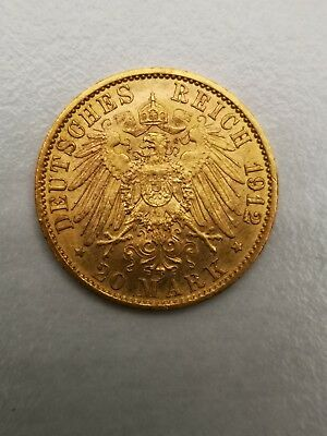 20 Mark Gold 1890 A Wilhelm II. Goldmünze Kaiserreich 1912 A