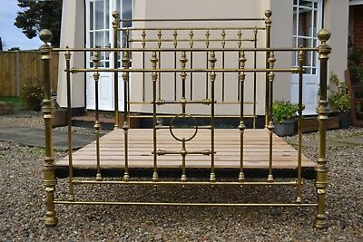 Original Antique Victorian Brass 5ft king Size Bed by Hoskins and Sewell.