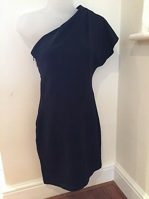 American Apparel Ladies / Womens Little Black Off The Shoulder Mini Dress Size 8