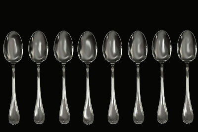 CHRISTOFLE Malmaison Silver Plated Flatware (8 Pieces) Dinner Spoons!
