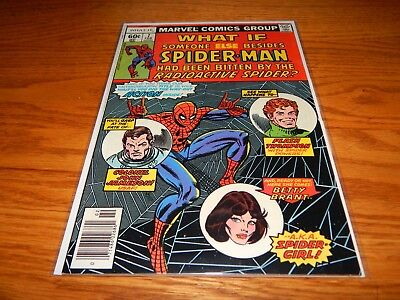 Great Find UNREAD Bronze Age Comic What If  # 7 W/Spider-Man  9.2 & Up Condition