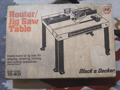 Black Decker Router Jig Saw Table Model 76 401 In Original Box Unopened