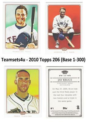 2010 Topps 206 (Base 1-300) Baseball Set ** Pick Your Team **