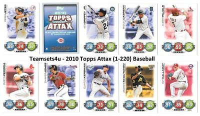 2010 Topps ATTAX (1-220) Baseball Set ** Pick Your Team **