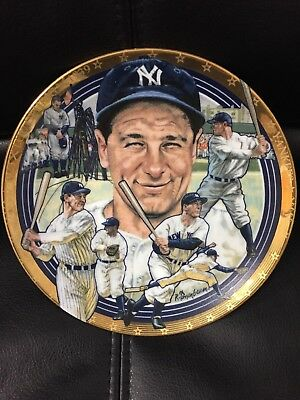 Vintage LOU GEHRIG NY Yankees The Hamilton Collection Limited Edition Plate