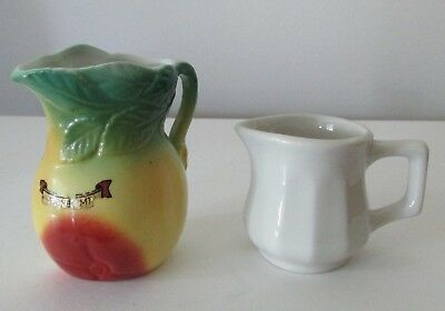 Lot of 2 Vintage Small Pitchers Creamer Fruit Germany 5585 White Hall Individual