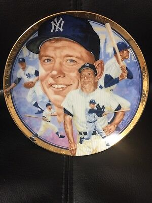 Vintage MICKEY MANTLE NY Yankees The Hamilton Collection Limited Edition Plate