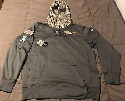 2017 CHICAGO BEARS Mens NFL Nike Salute to Service Hoodie SZ Large ... 471527084