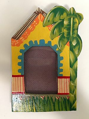 PICTURE FRAME, Little Gingerbread House HAND PAINTED NEW