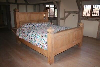 King Size Hand Crafted Solid Oak Bed
