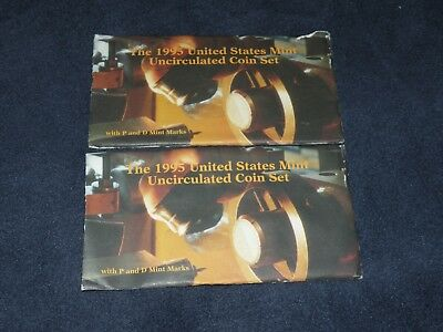 2x 1995 US Mint Uncirculated Sets *Free Shipping*