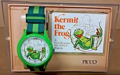 COLLECTIBLE 1979 KERMIT THE FROG WATCH BY PICCO  Muppets