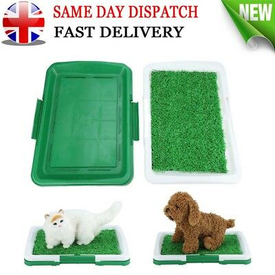 Pet Dog Toilet Mat Indoor Potty Puppy Trainer Grass Litter Tray Pad Restroom UK