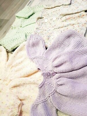 Baby Girls Hand Knitted Cardigans 3-6 Months Great Condition
