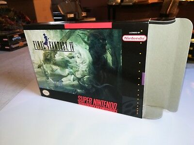 Final Fantasy IV 4 Box Only SNES Replacement Art Case/Box Super Nintendo