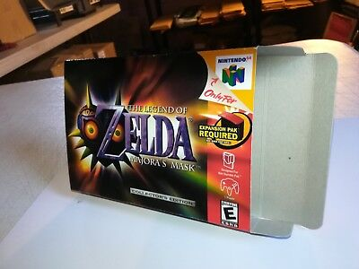 The Legend of Zelda: Majora's Mask Collector's N64 Art Case/Replacement Box Only