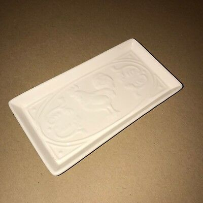 NEW with Tag - Paula Deen Rooster Spoon Rest - White Spoon Rest