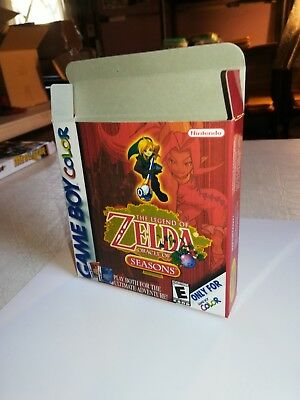 Legend of Zelda Oracle of Seasons Box Only GameBoy Replacement Box/Case Nintendo