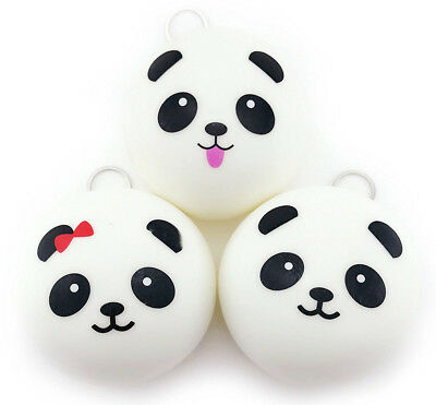 10cm Squishy Charms Buns Cell Phone Charm Kawaii Jumbo Panda Bag Strap Pendant