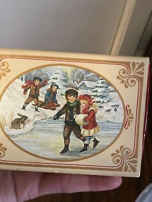 Vintage Avon Pair Of Winter Frolics Christmas Decorated Soaps