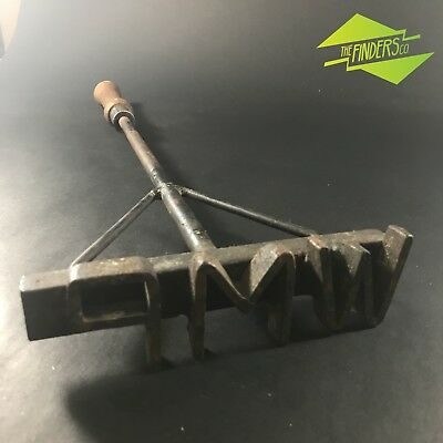 Vintage Rustic Hand Forged Letter 'wmp' Branding Iron Farming Livestock Tool