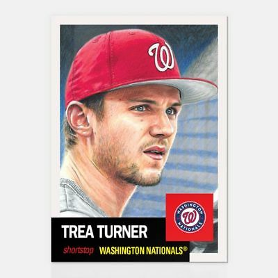 2019 Topps Living Set #134 Trea Turner Washington Nationals
