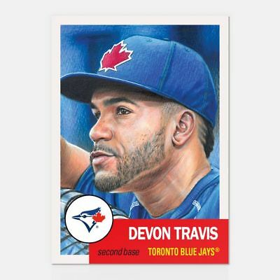 2019 Topps Living Set #135 Devon Travis Toronto Blue Jays
