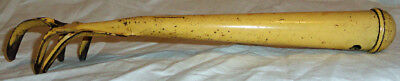 Vintage garden tool 5 finger claw yellow digger pressed steel large VG