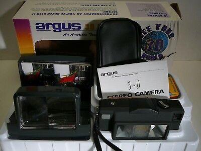 Vintage Argus 3D Stereo Camera And Viewer, Photo Kit Also Test Pictures