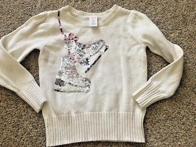 Gymboree- Sequin Ice Skates sweater- NEW- Darling girls size 5/6