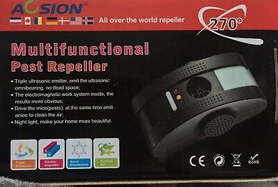 Acsion Multifunctional Pest Repeller  6000SqFt Electromagnetic Anion Ultrasonic
