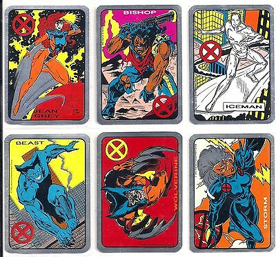 1992 MARVEL ENTERTAINMENT GROUP X-MEN VENDING MACHINE FOIL not prism STICKER SET