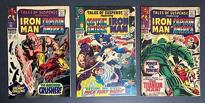 Tales Of Suspense #91-93 (Marvel 1967) HIGHER GRADE 12¢ Silver Age 3-Comic LOT
