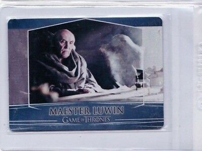 2017 Game Of Thrones Maester Luwin Season 7 Valyrian Metal #51 Pd