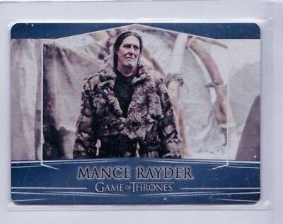 2017 Game Of Thrones Mance Rayder Season 7 Valyrian Metal #92 Pd