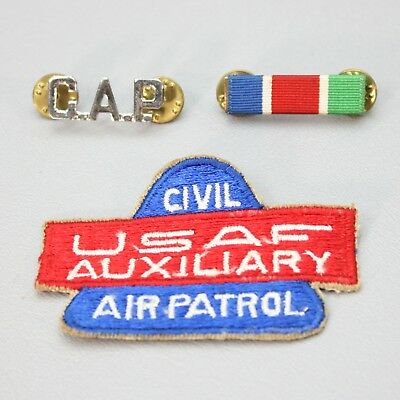 Vintage 1950s Cold War Lot Civil USAF Auxiliary Air Patrol CAP Pins Patch USA
