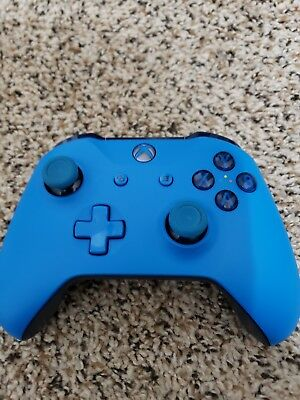 Genuine Microsoft Xbox One S Blue Wireless Bluetooth Controller WL3-00018 READ 1
