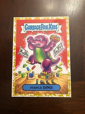 2019 Garbage Pail Kids We Hate the 90's GOLD Purple DINO 47/50