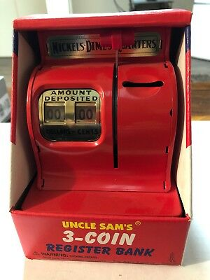 Uncle Sam's 3 coin register bank