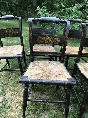 Hitchcock 8 Chairs Antique