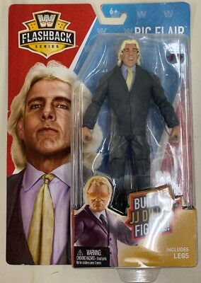 Wwe Mattel Flashback Series 2 Ric Flair Build A Jj Dillon Action Figure Wcw Wwf