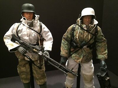 DRAGON & 21st CENTURY 1/6 SCALE 'KITBASHED' WWII WEHRMACHT MG34 TEAM PREOWNED!