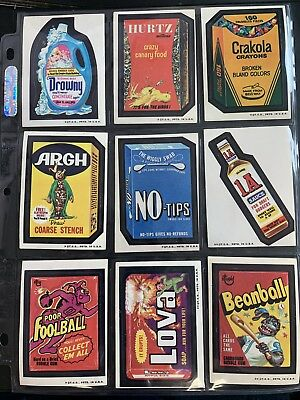 1974 Topps Wacky Packages Original 3rd Series Complete Set + Puzzle High Grade
