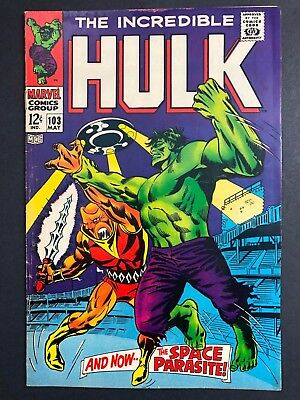 Incredible Hulk #103 (Marvel - 5/1968) MID-GRADE 1st app Space Parasite 12¢ KEY
