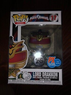 Funko Pop Power Rangers LORD DRAKKON Tommy PX Exclusive 17 w/ Protector NEW
